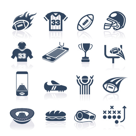 Football Icon Set Stock Vector - 30669198