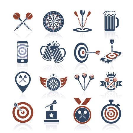 shooter drink: Darts icon set