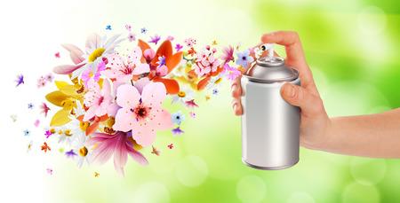部屋の花の香りのスプレーや - の中から花 2 写真素材