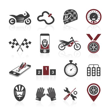 Motorsport icon set