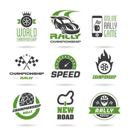 Rally set di icone, icone di sport - 2