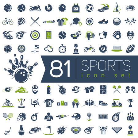 Sport vector icons for web and mobile.