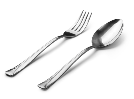cutlery - spoon with clipping path 스톡 콘텐츠