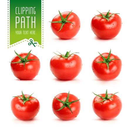 tomates: jeu de tomates avec chemin de d�tourage Banque d'images