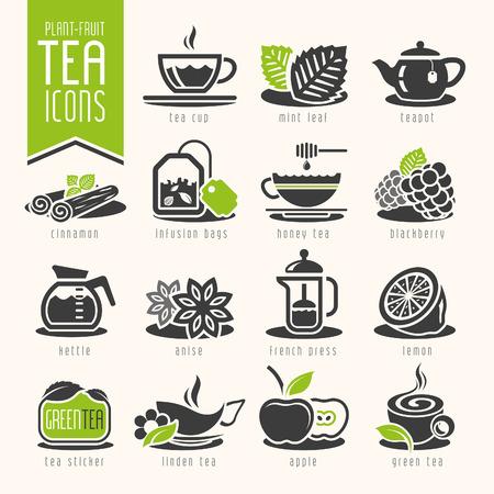 Tea icon set Illustration