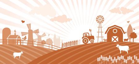 animales de granja: Granja Vectores