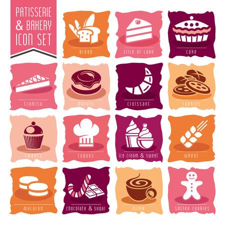 patisserie: Panetteria, pasticceria icon set
