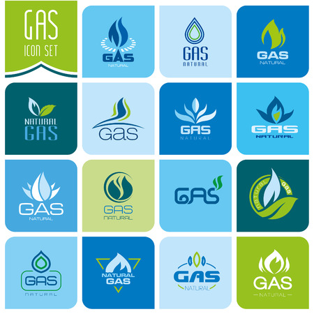 gas pipe: Gas industry symbols Illustration