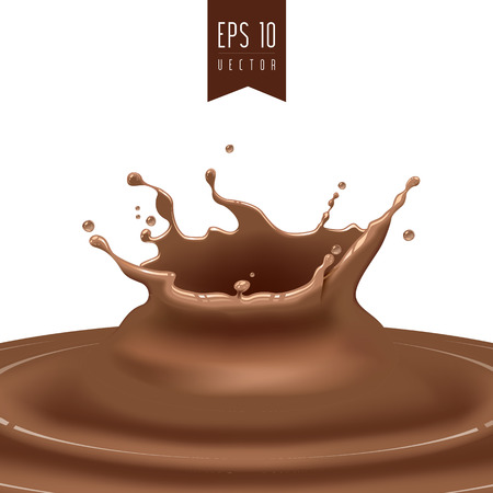 organic fluid: Splash of coffee or chocolate vector Illustration