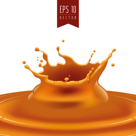 Splash of caramel or oil vector