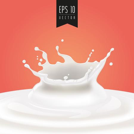 mleczko: Splash mleka w wektorze.