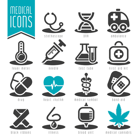 pharmacy icon: Medical icon set