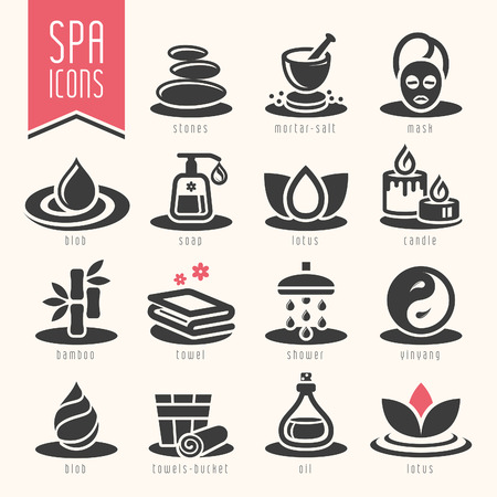 Spa icon set