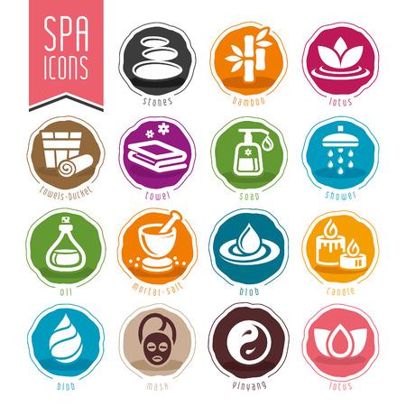 rock salt: Spa icon set