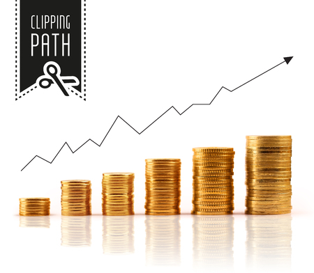 ���clipping path���: Financial rise with clipping path