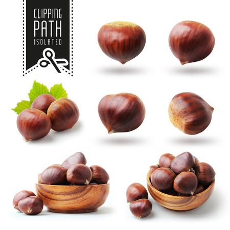 Isolated chestnut set