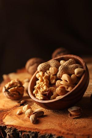 Nut mix sur bois