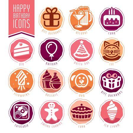 Feliz Cumpleaños Icon Set