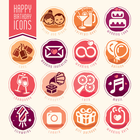 wedding: Wedding icon set. Illustration