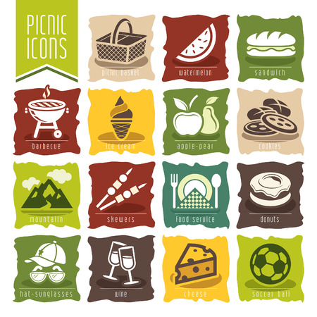 Picknick-Icon-Set