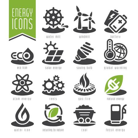 sun: Energy icon set. Illustration
