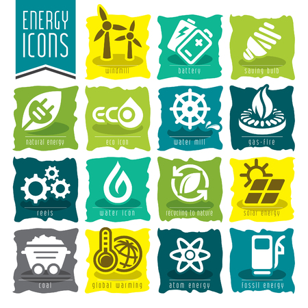 Energie-Icon-Set. Standard-Bild - 76372825