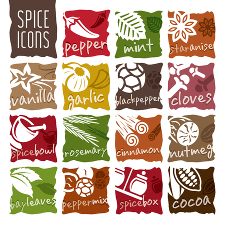 Spice Icon Set. Standard-Bild - 78064633