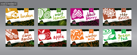 Vector Tea Packaging Set Illustration