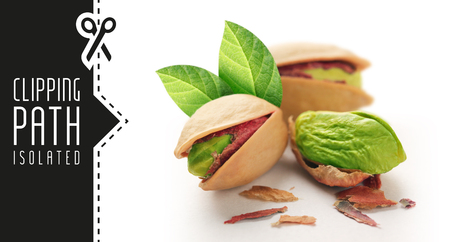 Pistachios with clipping path