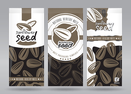 Sunflower seed packaging set
