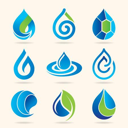 Water icon set Ilustrace
