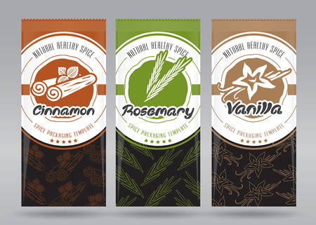 Vector Spice Multiple Packaging Set