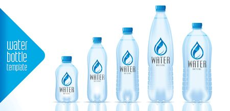 Water bottle template and ready label design