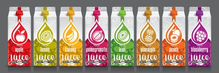 Ready design vector juice, fruit package set