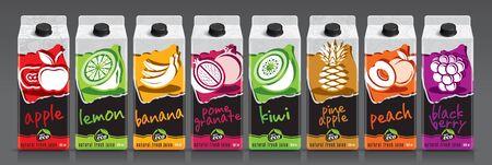 Ready design vector juice, fruit package set