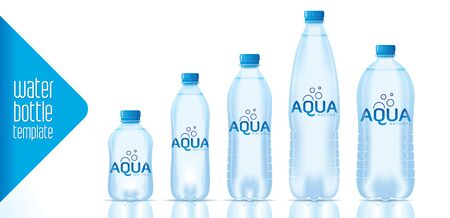 Vector water bottle template and ready label design