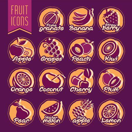 Ready design fruit icon set