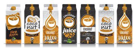 Ready design vector plum juice, fruit package set