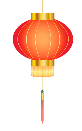 chinese lantern: Chinese red paper lantern Illustration