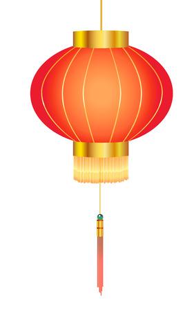 papierlaterne: Chinesische rote Laterne Papier Illustration