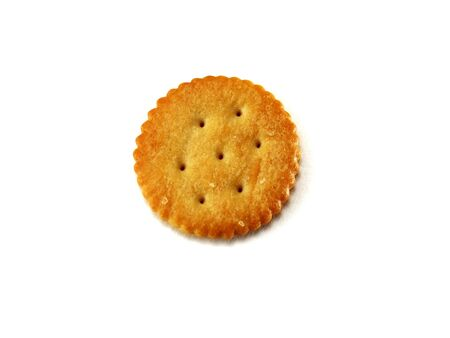 round: Isolated Round Cracker Stock Photo