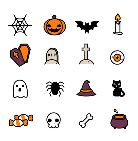 graves: Halloween Icons set