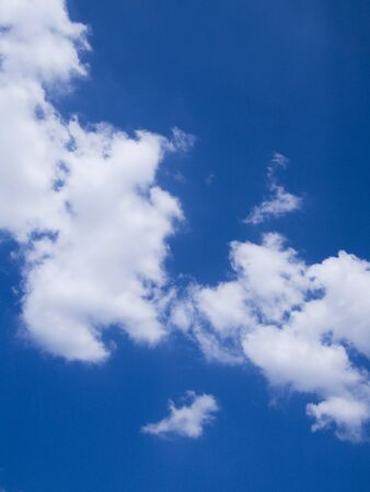clouded: Clouded cyan sky in a sunny day