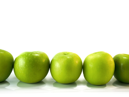 green apples: isolated green apples