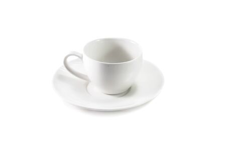 ceramic: White ceramic hot drink cup isolated Stock Photo
