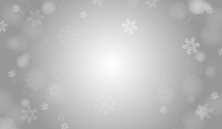 Silver winter vector background