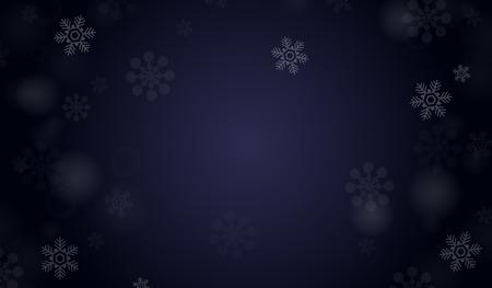 winter vector: Dark blue winter vector background