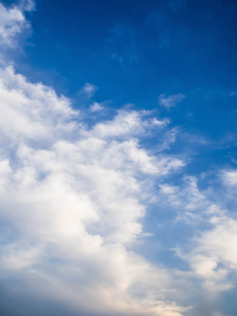 fluffy: Blue sky with fluffy clouds