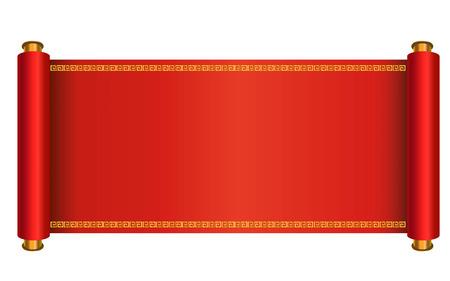 Chiński styl ilustracji wektorowych przewijania