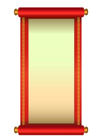 中国風スクロール ベクトル図